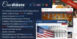 Candidate – Political Nonprofit Church WordPress Theme