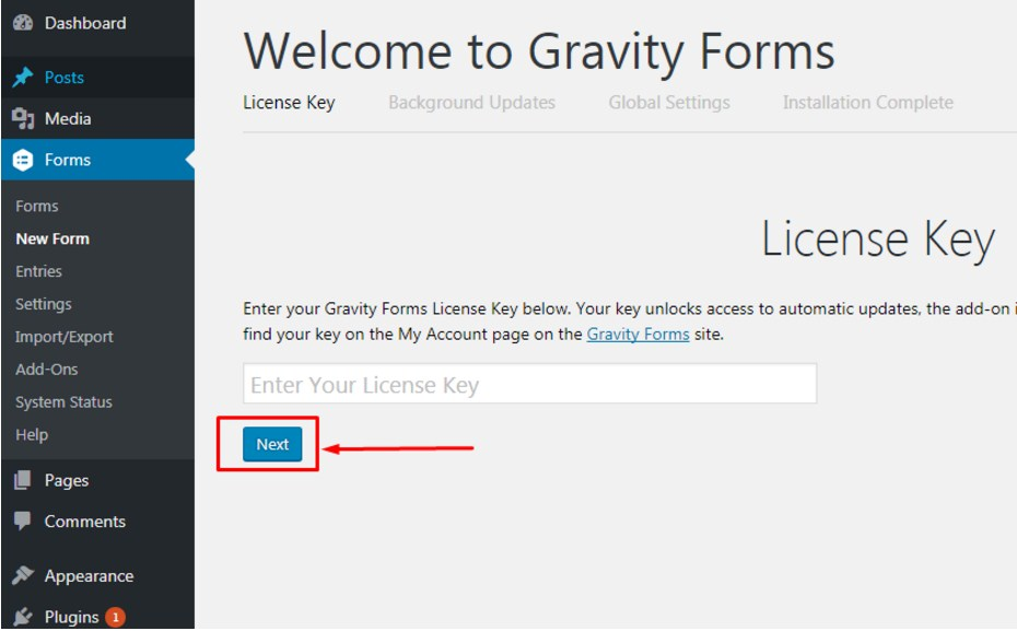 How To Activate Gravity Forms Plugin