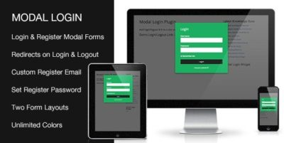 Modal Login Register Forgotten WordPress Plugin