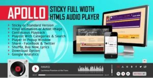 Apollo – Sticky Full Width HTML5 Audio Player Plugin