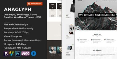 ANAGLYPH – One page / Multi Page WordPress Theme